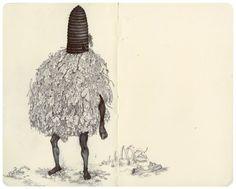 "from James Jean's sketchbook ""Mole E"" 2010 James Jeans, Moleskine Sketchbook, Sketchbooks, Jeans Drawing, Sketch Notes, Amazing Drawings, Sketchbook Inspiration, Modern Artists, Marker Art"
