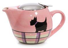 ...talk about all my favorites!!  ..a pink plaid scottie teapot w/purple on it