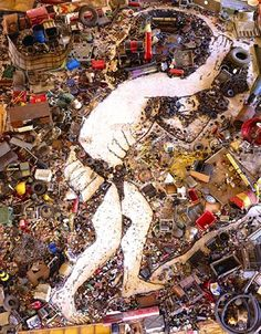 Des portraits dordures par Vik Muniz Photo