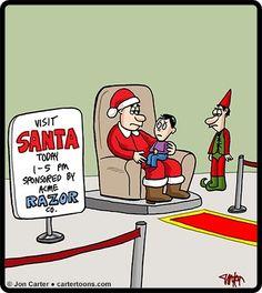 beardless santa