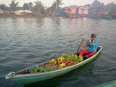 Floating market in Barito River, Banjarmasin, Indonesia