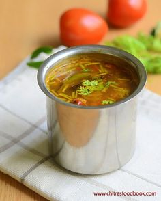 Tomato Rasam Recipe–Kerala Style Thakkali Rasam Without Rasam Powder Veg Recipes, Curry Recipes, Indian Food Recipes, Vegetarian Recipes, Snack Recipes, Cooking Recipes, Kerala Recipes, Sweets Recipes, Chicken Recipes