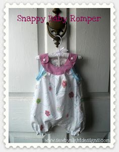 Snappy baby romper