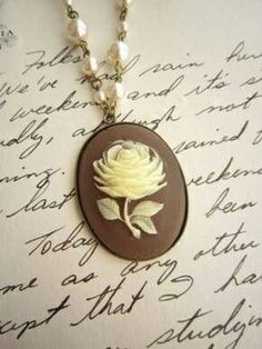 Rose cameo on letter