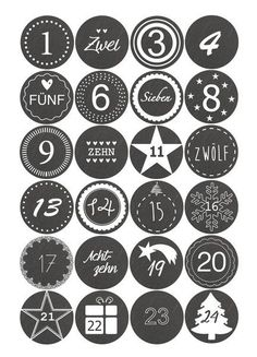 Advent calendar sticker - slate look - Calendar Advent Calendar Numbers – to check - Noel Christmas, Homemade Christmas, Christmas Crafts, Christmas Decorations, Calendar Numbers, Calendar Stickers, Advent Calenders, Diy Advent Calendar, Xmas Gifts