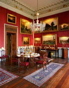 Castle Howard » The Crimson Dining Room. Yorkshire, England, UK