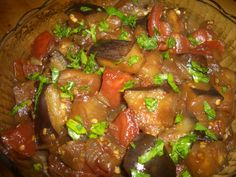 INDONESIAN EGGPLANT - A delicious and different way to prepare eggplants and tomatoes www.wheatfreedairyfreekitchen.com