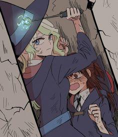 Yuri Manga, Yuri Anime, Anime Girlxgirl, Anime Kawaii, Cute Lesbian Couples, Lesbian Art, Cute Anime Couples, Little Witch Academia Characters, My Little Witch Academia