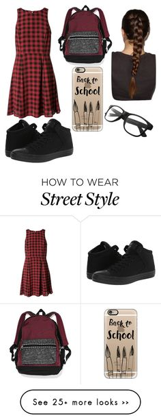"""""""Work the back to school outfit"""" by rileyyyy1234567 on Polyvore featuring Converse, Victoria's Secret and Casetify"""