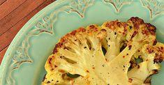 Roasted Cauliflower Steaks Califlour Recipes, Side Recipes, Popular Recipes, Vegetable Recipes, Gourmet Recipes, Low Carb Recipes, Cooking Recipes, Vegetable Sides, Recipies