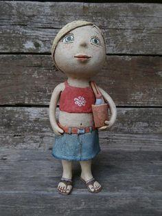 Kočida | Fler.cz Pottery Classes, Sculpture Clay, Art Dolls, Elsa, Ceramics, Funny, Vintage, People, Style