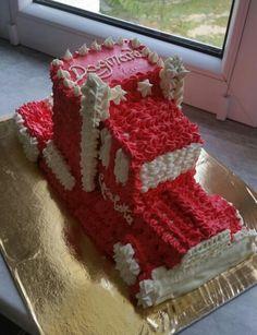 Tort ciężarówka tir Coca-Cola
