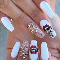 These nails just slayyy #nails #flawless #badandboujee #badaf #slay #cute #cutenails #nailgoals #fashion #style #oneofakind #beautiful http://www.butimag.com/fashion/post/1478695756625822877_4554195170/?code=BSFYfTIj0Sd