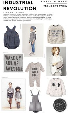 Emily Kiddy: Autumn | Winter 2017 / 18 - Industrial Revolution - Trend Overview (Boys|Girls)