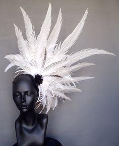 feather headdress wedding - Google Search