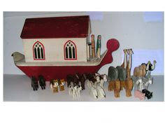 Noah's Ark - Noah and his wife and animals - SOLD