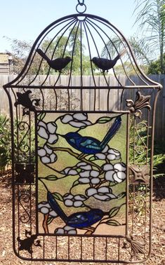 Two Little Blue Wren's - Delphi Stained Glass