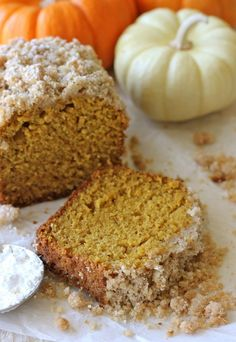 """<strong>Get the <a href="""";http://damndelicious.net/2012/11/02/crumbly-pumpkin-bread/"""" target=""""_blank"""">Crumble-Topped Pumpkin Bread recipe</a> from Damn Delicious</strong>"""