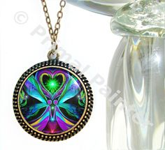 Heart Chakra Jewelry Twin Flames Necklace Angel Pendant Reiki Love