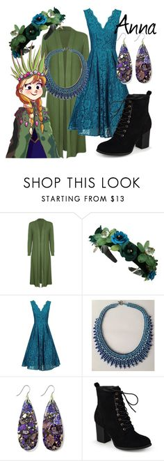 """""""Anna - Troll Wedding (A Disney-Inspired Outfit)"""" by one-little-spark ❤ liked on Polyvore featuring Jolie Moi, Journee Collection, disney and disneybound"""