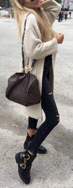 #fall #outfits / cream cardigan