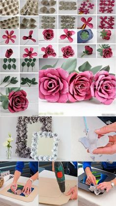 DIY Decorative Flower With Egg Carton #diy #craft #rose