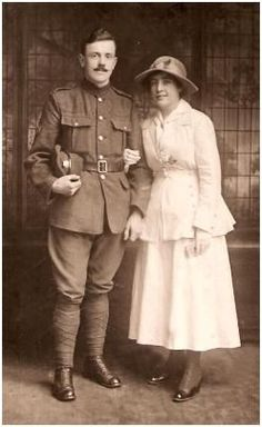 1917 - World War One Wedding Suit Soldier and his Bride   WWI ...