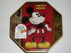 Disney's Mickey Mouse Collectors Tin w Famous Amos Chocolate Chip Cookies Trivia   eBay
