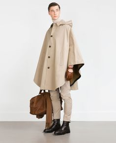 HOODED CAPE - Outerwear and Trench Coats - MAN | ZARA United States