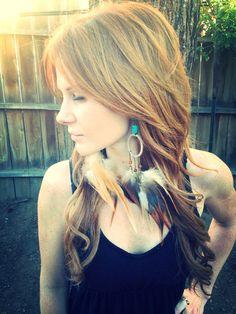 Long Feather Earrings - Dream Catcher, Chandelier Earrings, Dreamcatcher Jewelry on Etsy, $40.00
