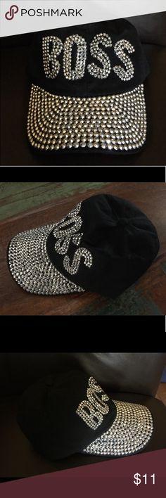 "Bling ""BOSS"" Adjustable Baseball Cap Bling ""BOSS"" Adjustable Baseball Cap - One size.  100% Cotton One size fits most Accessories Hats"