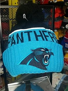 Men s New Era NFL 2015 Carolina Panthers Sport Knit Hat Blue Black Size One  Size 0ea6427c9