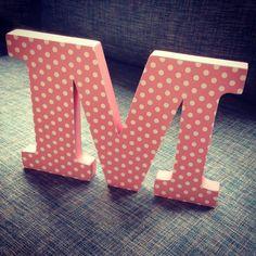 Letras decorativas en mdf y papel #ideas #decoracion