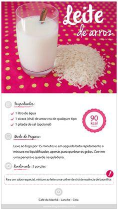 LEite de arroz.