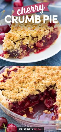 Cherry Pie Crumble, Pie Crumble Topping, Crumble Recipe, Cherry Pie Crumb Topping, Fresh Cherry Pie Recipe, Homemade Cherry Pies, Cherry Crisp Recipe With Fresh Cherries, Sweet Cherry Pie, Cherry Desserts