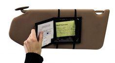 Stylish Black Registration Wallet Car Glove Box Organizer