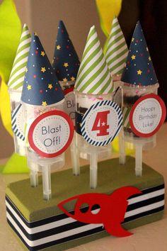 Rocket Ship Birthday Theme