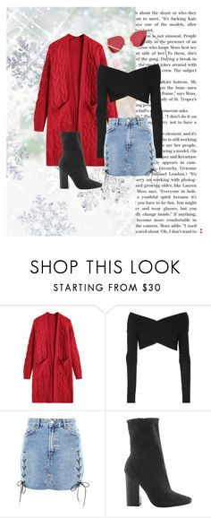 """tis' the season"" by taleahxi ❤ liked on Polyvore featuring Opening Ceremony, Topshop and Kendall + Kylie"
