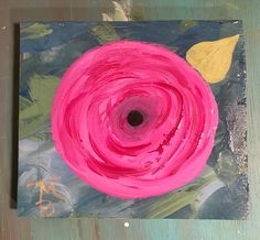 Acrylic on reclaimed wood - art block by Alabama artist, Tina Bedwell