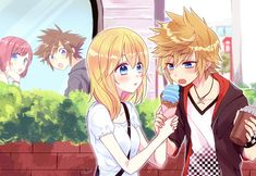 Rokunami forever ♡ i love roxas' clothes, so cool Cry Anime, Anime Art, The Legend Of Zelda, Roxas Kingdom Hearts, Final Fantasy Cloud, Anime Friendship, Kindom Hearts, Girls Anime, Heart Images