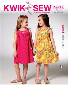 Baby Girl Dress Patterns | Girl Patterns - Kwik Sew Girls Dresses Pattern