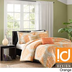 ID-Intelligent Designs Sabrina 3-piece Duvet Cover Set | Overstock.com Shopping - The Best Prices on ID-Intelligent Designs Teen Bedding