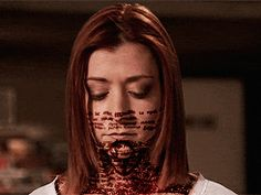 Buffy The Vampire Slayer GIF - alyson hannigan as dark willow