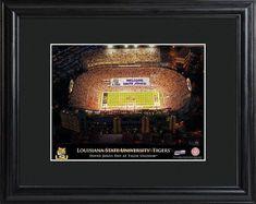 College Stadium Print with Wood Frame - LSU