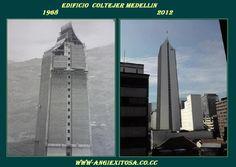 Mi bella Medellin edificio coltejer antes y ahora