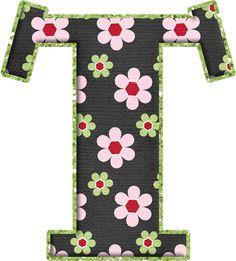 .Alfabeto de florecitas rosas ...De  Eduarda Cavalcanti ...T 26 Letters, Letter T, Alphabet Letters, Flower Alphabet, The Wedding Singer, Printable Letters, Alphabet And Numbers, Initials, Clip Art