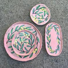 Togetherness Design / Esther Sandler - Melbourne based textile design and illustrator. Wattle Dishes Togetherness Design / Esther Sandler - Melbourne based textile design and illustrator.