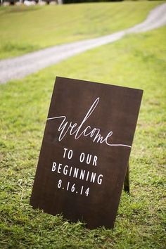 Welcome to Our Beginning Wedding Welcome Sign by SweetNCCollective
