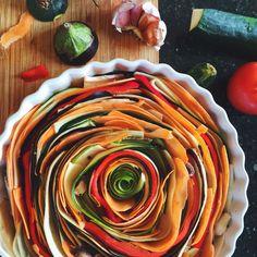 Zeleninový Spiral Tart • CukrFree.cz