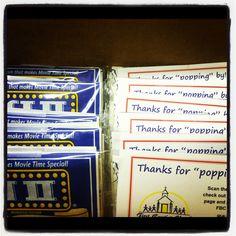 Trunk or Treat favors -- mini bags of popcorn